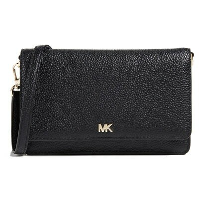 マイケルコース 財布/バッグ Michael Michael Kors 32T8GF5C1LPebbled Leather Convertible Crossbody (Black) レザー...