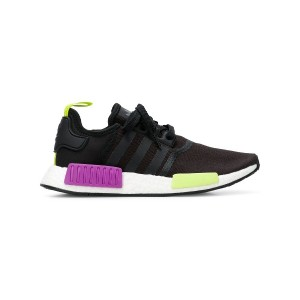 Adidas NMD R1 neon detailed sneakers - ブラック