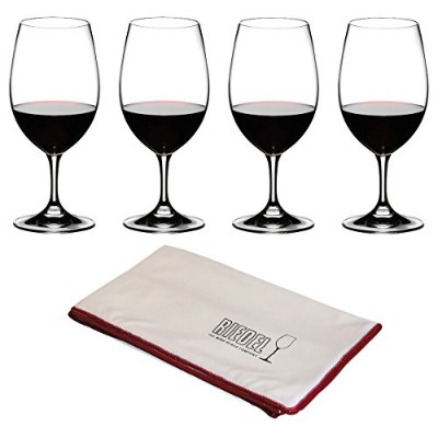 リーデルOuverture Magnum Set of 8 Wine Glasses with Free Polishing Cloth