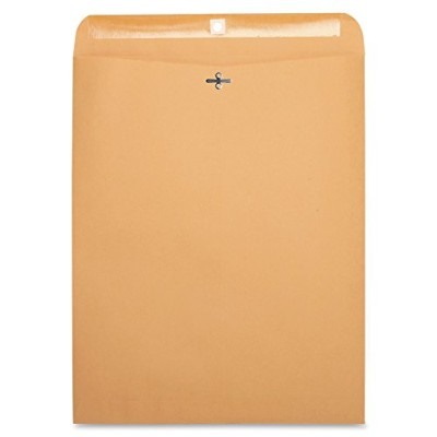 Business Source BSN36667 Clasp Envelopes- 28 lb.- 12in.x15-.50in.- Brown Kraft