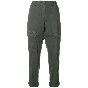 Peserico cropped cargo trousers - グリーン