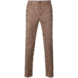 Department 5 checkered trousers - ヌード&ナチュラル