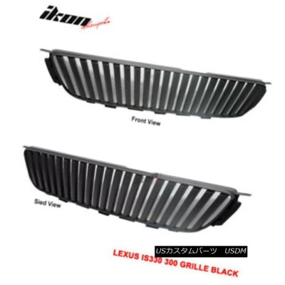 USグリル For 01-05 Lexus IS300 VIP ABS Black Front Hood Grille Grill 01-05レクサスIS300 VIP ABSブラックフロントフードグ...