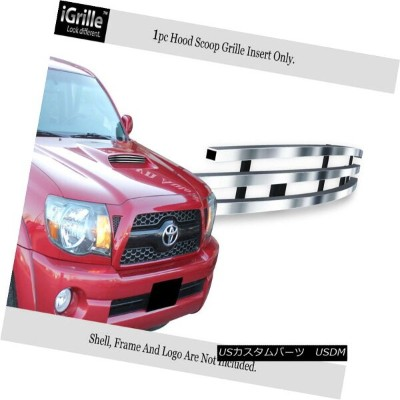 USグリル Fits 2005-2011 Toyota Tacoma TRD Sport Stainless Scoop Billet Grille フィット2005年から2011年トヨタタコマTRD...
