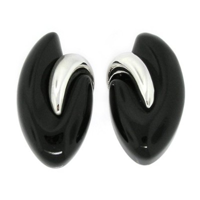 Lovable Large Marquise Earrings w /ブラックオニキス