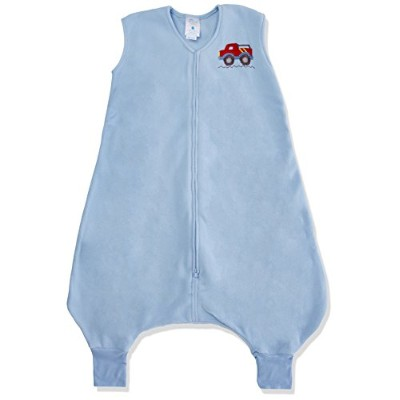 Halo Innovations Big Kids Wearable Blanket Fleece (2-3 Years, Blue Truck)