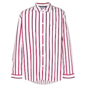 Tommy Jeans striped shirt - レッド