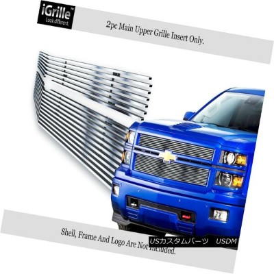 USグリル Fits 2014-2015 Chevy Silverado 1500 Reg Model Stainless Steel Billet Grille 2014-2015 Chevy...