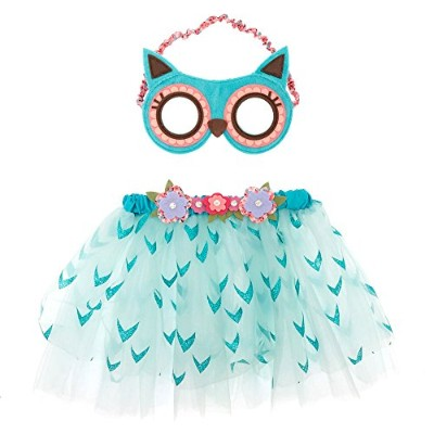 Claire 's Club Girl 's Hazel the Owl 2 Piece Dress Up Set