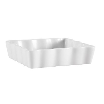 (15cm , Super White ,Box of 36) - CAC China QCD-SQ6 Porcelain Square Fluted Quiche Baking Dish,...