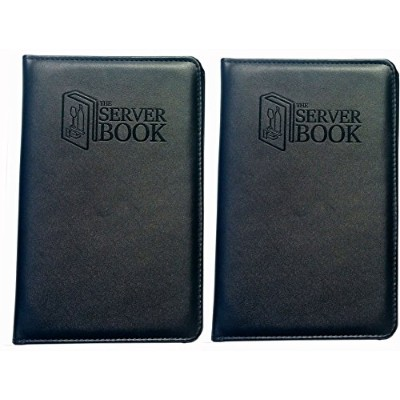 The Server Book withファスナーポケット–ブラックWaitress/Waiter Book with Moneyポケットfor Everyエプロン–食品サービス機器&...
