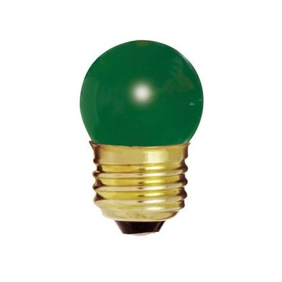 Bulbrite 702407 - 7.5S11G - Green 7.5 Watt S11 Light Bulb, 130 Volt Long Life, Medium Base by...