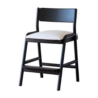 ISSEIKI 学習チェア ダイニング 子供 椅子 キッズ イス チェア 木製 アルダー 無垢 (ブラック) FIORE DESK CHAIR (BK/WH)