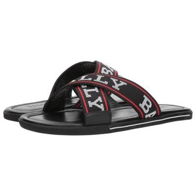 バリー サンダル Bonks Logo Sandal Black/White/Red
