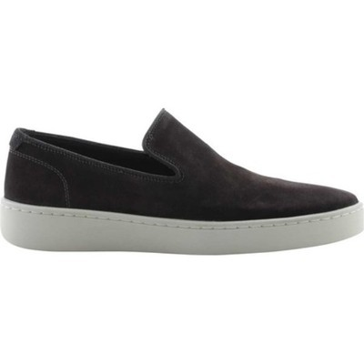 ヴィンス スリッポン・フラット Sanborn Suede Slip-On Sneaker Graphite Cow Leather