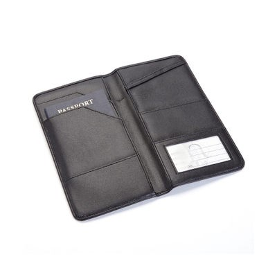 ロイズ 財布 Executive Passport Travel Document Wallet in Genuine Leather Black