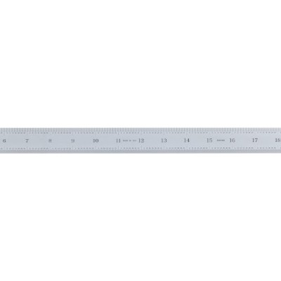 Mitutoyo 182-165, Steel Rule, 24/600mm ( 1/32, 1/64, 1mm, 0.5mm), 3/64 Thick X 1-3/16 Wide, Satin...