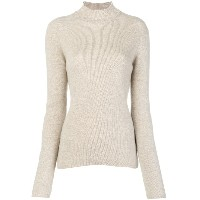 Pringle Of Scotland ribbed roll neck sweater - ニュートラル