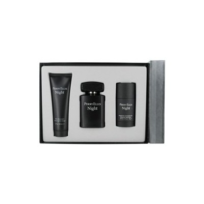 Perry Ellis Night for Men Gift Set - 3.4 oz EDT Spray + 3.0 oz Aftershave Balm + 2.75 oz Deodorant...