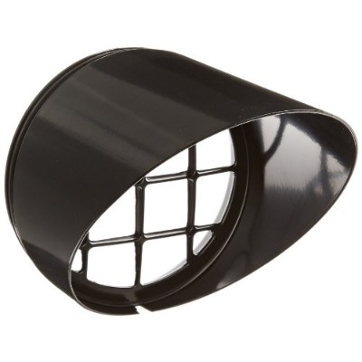 RAB Lighting HV1B H System Visor, Aluminum, 5-5/8 Diameter x 6-1/4 Height, Black by RAB Lighting