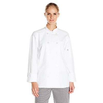 Uncommon Threads 0426-2505 Extra Large Classic With Mesh Chef Coat in White