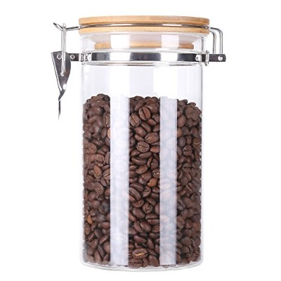 (40oz / 1150ml) - 3E Home 23-2700 Large Coffee Canister, Container, Jar for Ground or Whole Bean,...