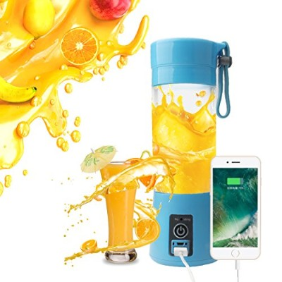 a-szcxtop個人Electricフルーツジューサー、Smoothieメーカー、ポータブルFruit Blender、USB充電器、380ml Cup For旅行、ジム、ピクニック...