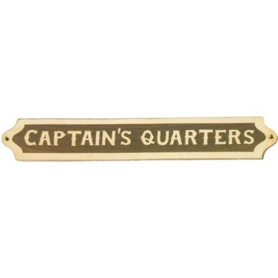 "木製Captain 's Quarters Sign 13.5 "" X 2 """