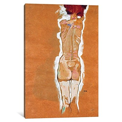 iCanvasART 1ピースNude Girl Standing from the backsideキャンバスプリントby Egon Schiele 0.75 by 12 by 18-Inch...