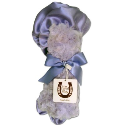 Max Daniel Baby Rosebuds and Satin Security Blanket - Lavender by Max Daniel Designs