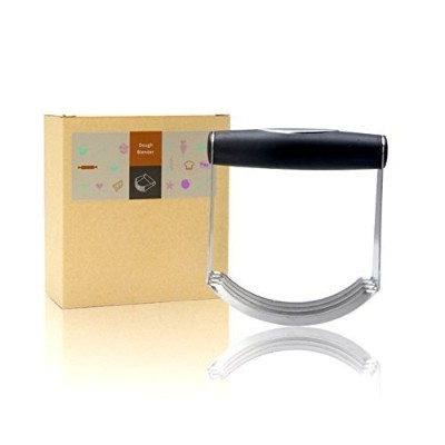 casualux Pastryカッターステンレススチール–プロフェッショナルBaking Dough Blender withブレード、Top Professional Pastryカッター