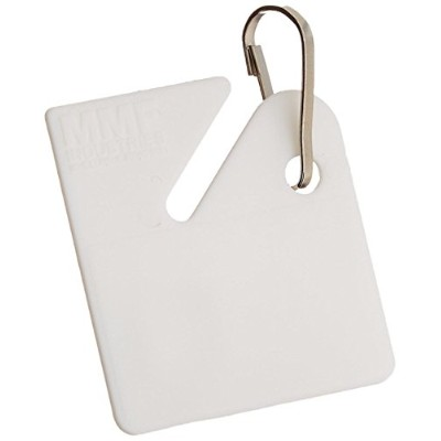 Slotted Rack Key Tags, Plastic, 1 1/2 x 1 1/2, White, 20/Pack (並行輸入品)