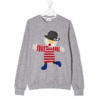 Fendi Kids TEEN printed sweatshirt - グレー