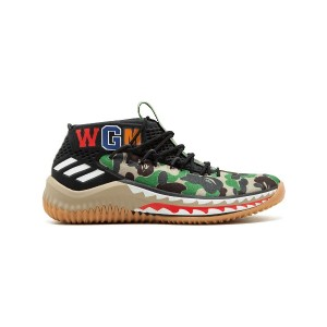 Adidas Dame 4 A Bathing Ape スニーカー - ブラック