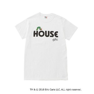"IN THE HOUSE  HOUSE ""The Very Hungry Caterpillar"" TEE(B) シロ 【三越・伊勢丹/公式】 メンズウエア~~Tシャツ"