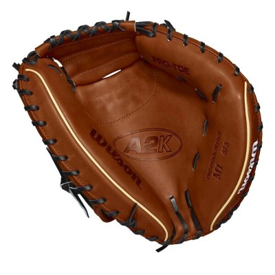 ウィルソン Wilson ユニセックス 野球 グローブ【2018 A2K 33.5 Inch Right Hand Throw Catchers Mitt】Brown/Tan