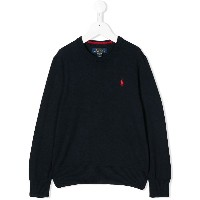 Ralph Lauren Kids crew neck sweater - ブルー