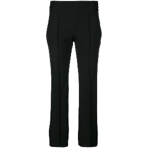 Incotex cropped straight leg trousers - ブラック