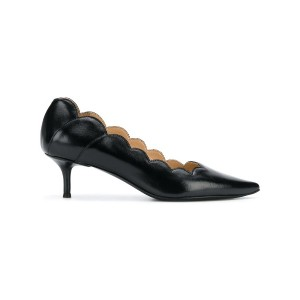 Chloé ruffle pointed toe pumps - ブラック