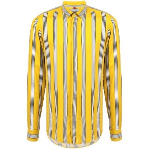 Lords And Fools longsleeved striped shirt - イエロー