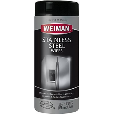 Weiman Stainless Steel  Wipes アメリカ生まれ ステンレス・クリーナー 30枚入り