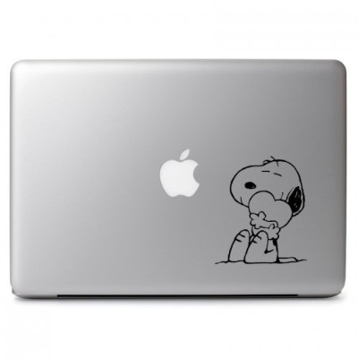 MacBook 対応 アートステッカー スヌーピー Peanuts Cute Lovely Snoopy Hugging Heart (11, 13, 15 or 17 インチ air pro...