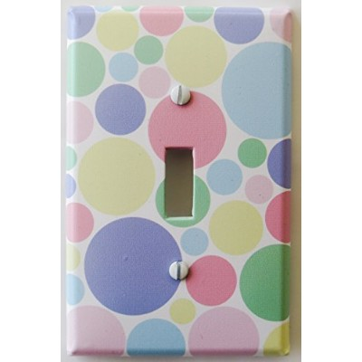 Blue And Brown Polka Dot Light Switch Plate Covers Single Toggle