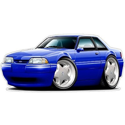 Ford Shop Wall & Home Decor 1987-93 Mustang LX Fox Body Notchback Large 22 x48 (4ft Long) Wall...