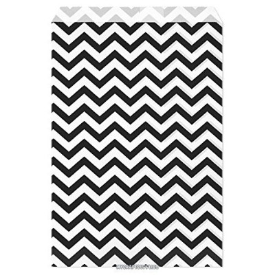 My Craft Supplies 6 X 9 Black Chevron Paper Bags Set of 100 by MyCraftSupplies