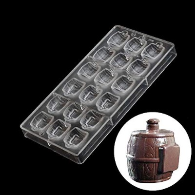 Grainrain Beer Barrel Shaped Polycarbonate Cake Chocolate Moulds DIY Baking Tray 3D Moulds