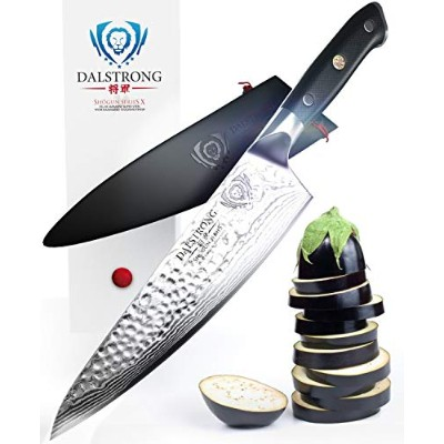 "DALSTRONG Chef Knife - Shogun Series X Gyuto - VG10 - Hammered Finish - 8"" (200mm)"