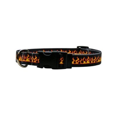 Yellow Dog Design M-RF101S Red Flames Martingale Collar - Small