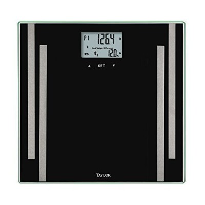 Taylor Bluetooth Body Fat Smart Scale w/ 400 lb Capacity and SmarTrack App by taylor