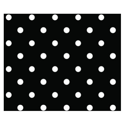 1 X Black & White Polka Dot Gift Wrap Wrapping Paper 16 Foot Roll by Buttons Bags and Bows